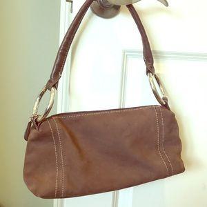 Brown evening bag